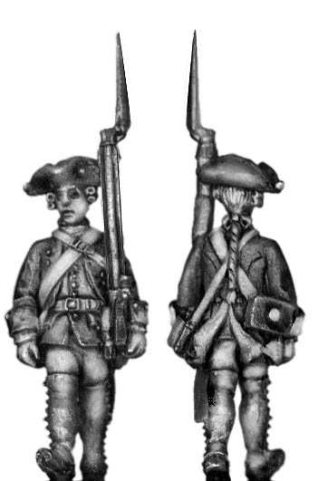 1756-63 Saxon Musketeer, march-attack