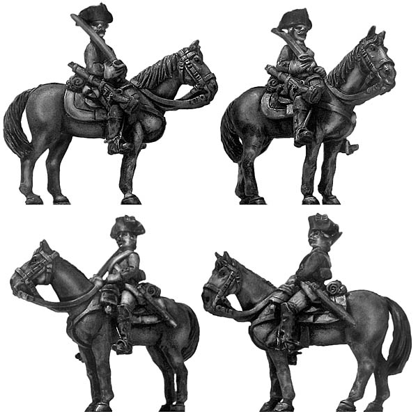 1756-63 Saxon Cuirassier trooper, at ease
