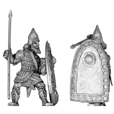 Assyrian heavy infantry, with spear and shield