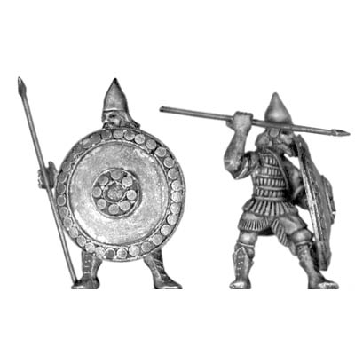 Assyrian Guard infantry, with spear and shield