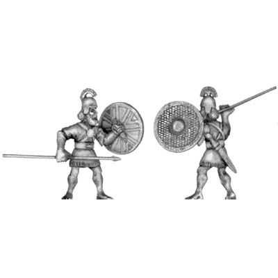 Assyrian auxiliary infantry, with spear and shield
