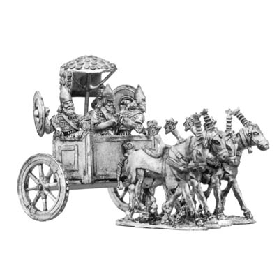 Assyrian King's four horse chariot and crew
