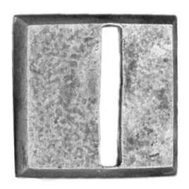 20mm square, horizontal slot, textured