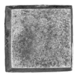 20mm square, no slot, textured