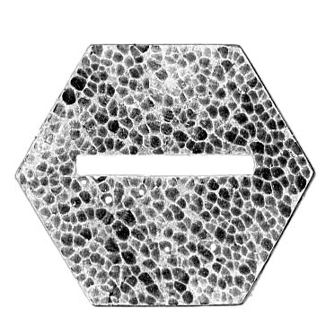 24mm (across flat) hexagon, slot (across point), textured