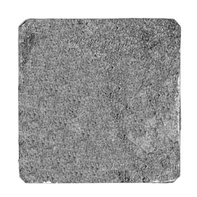 19mm square, plain