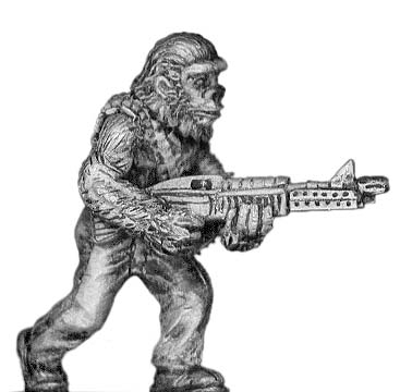 Boiler Suited Ape, with M-60