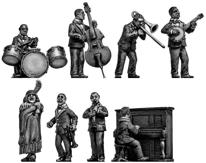 1920s Jazz Band - 8 figure set