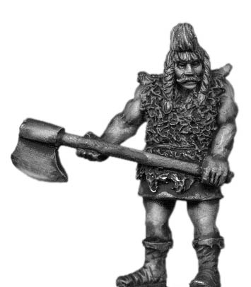 Germanic companion with axe