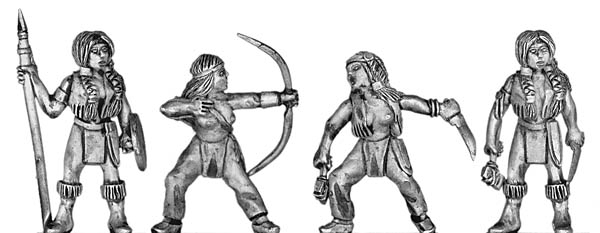 American Indian warrioress