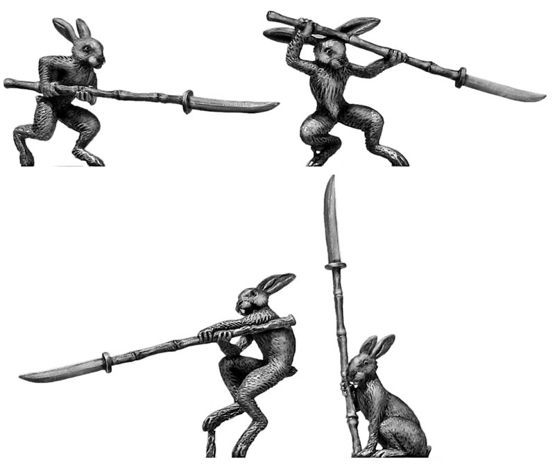 Rabbit Ashigaru with naginata