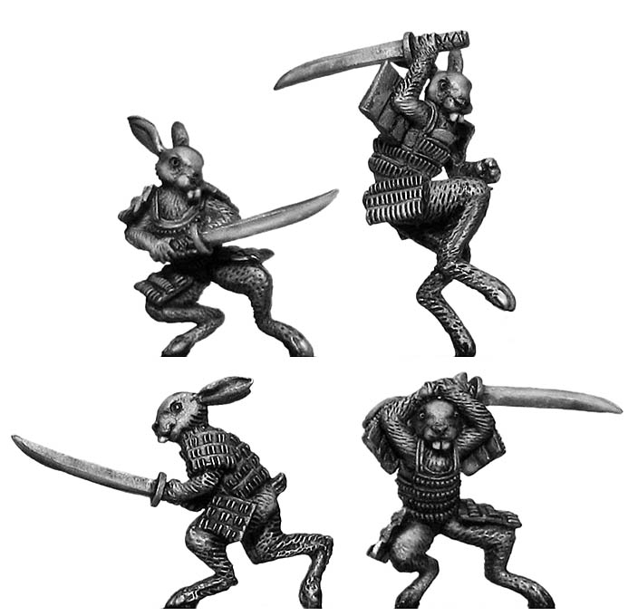 Rabbit Samurai with katana