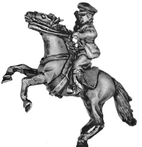 Russian mounted officer in cap