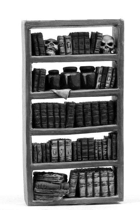 Mad Doctor reference library bookcase
