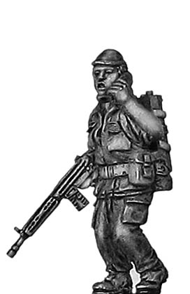 1970s Portuguese (Africa) Infantry signaller with radio and G3