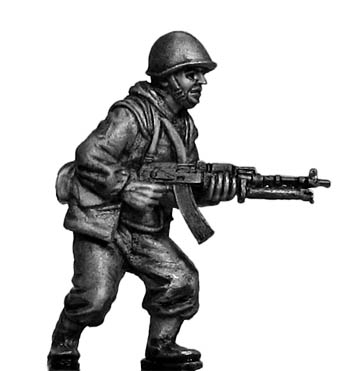 Mechanised Infantry in helmet with RPD LMG