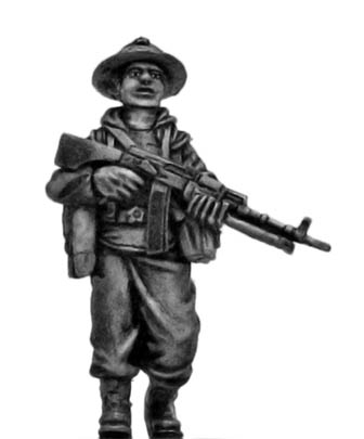 Mechanised Infantry in boonie hat with RPD LMG
