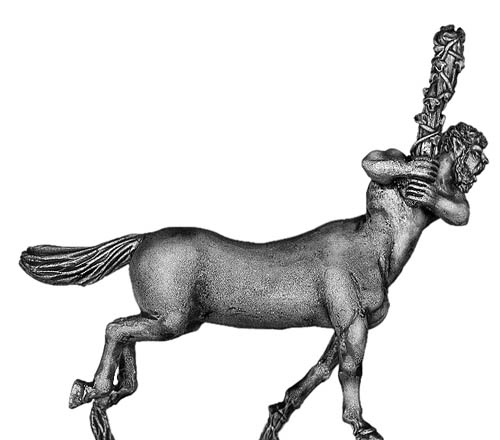 Centaur hero with club