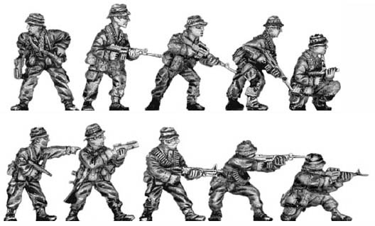 Rifle section (action poses)