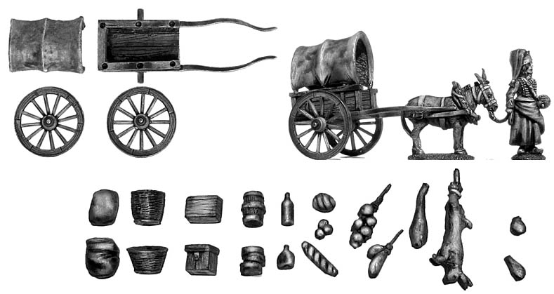 La Cantiniere and provision cart
