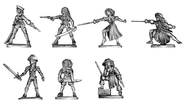 Pirate Lady, various weapons