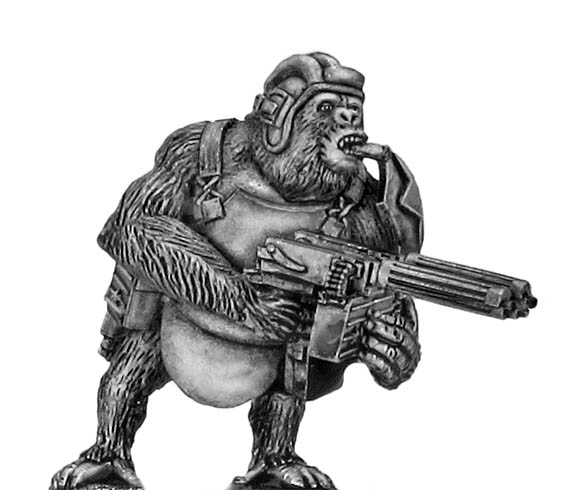 Soviet Gorilla with twin HMGs, tanker helmet and body armour