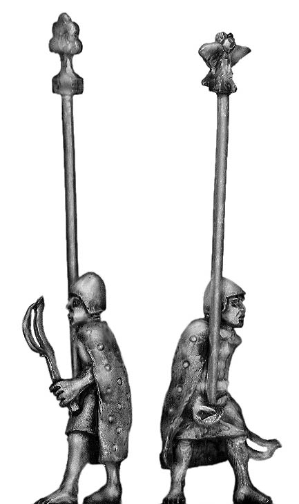 Sumerian Standard Bearer with cloak