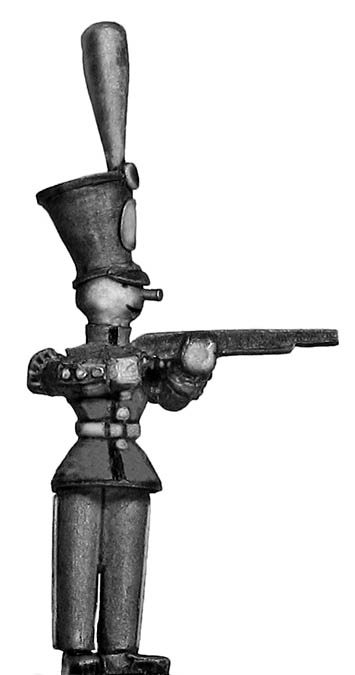 Toy Town Soldier in shako, firing