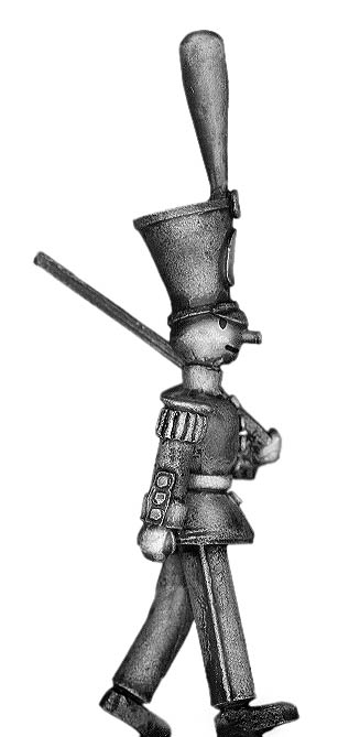 Toy Town Soldier in shako marching