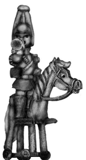 Toy Town Soldier Heavy Cavalry trumpeter