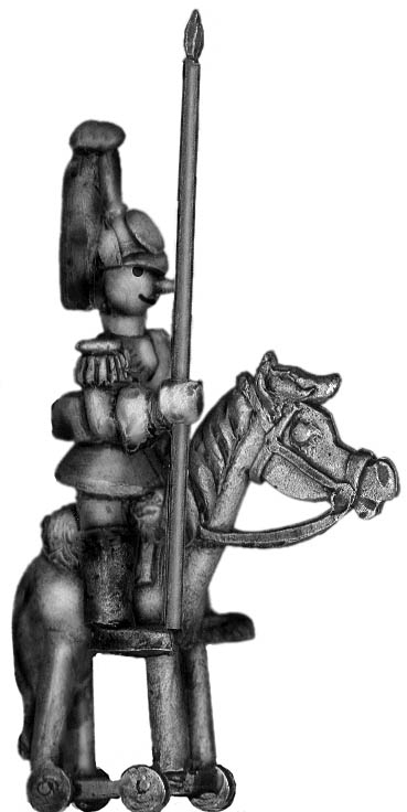 Toy Town Soldier Heavy Cavalry standard bearer