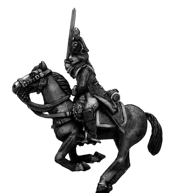 Heavy cavalry officer charging