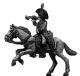 Heavy cavalry trumpeter charging