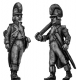 Officer, casque, ragged campaign uniform, marching
