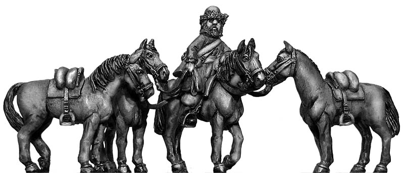 Ural Cossack Horse holder and horses