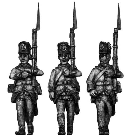 Hungarian Fusilier, march-attack, casquet