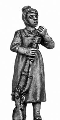 Tyrolean woman with firearm