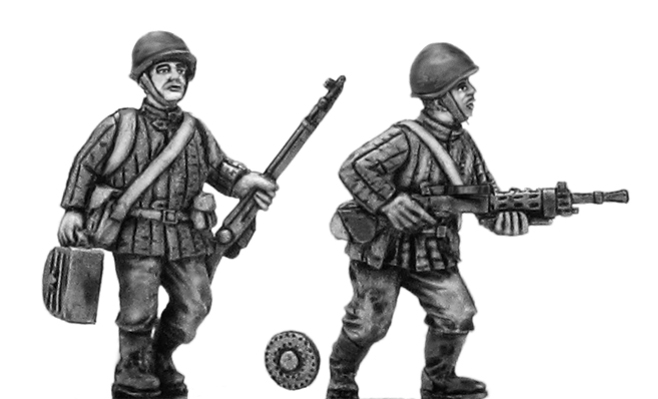 Soviet infantry LMG team in helmet