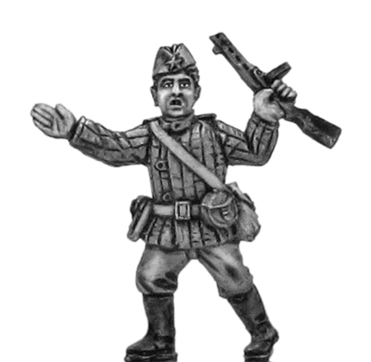 Soviet infantry officer in side cap