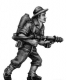 Australian infantry with flamethrower, slouch hat