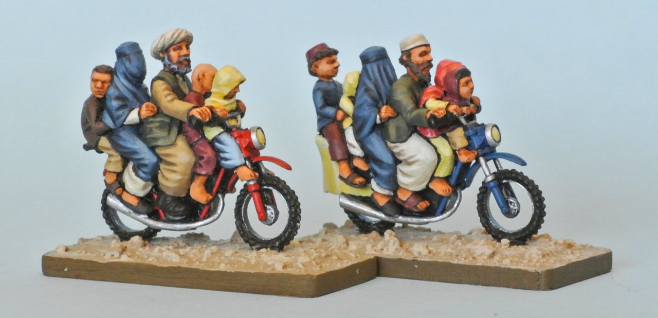 Afghan family on motorbike