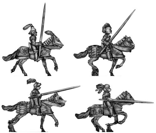 Men of Grandeur Knight mounted with lance