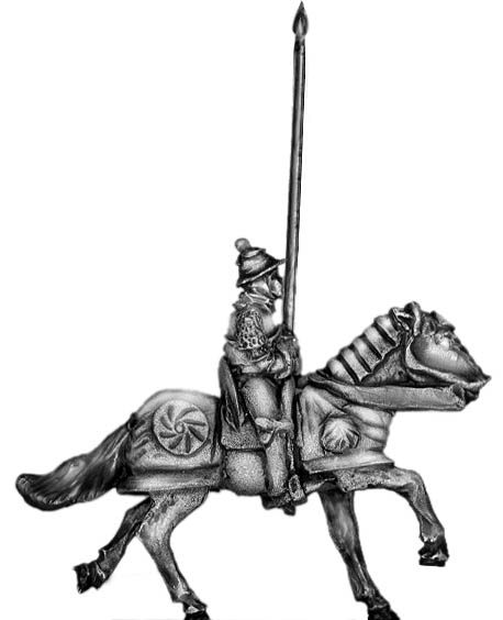 Men of Grandeur standard bearer mounted