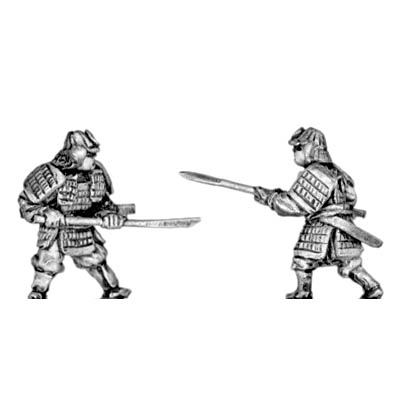 Samurai in heavy armour with pole arms