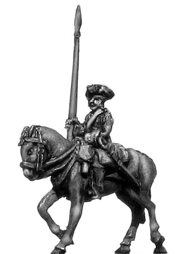 Chevau leger standard bearer in tricorn