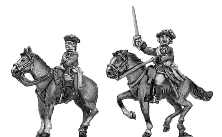Mounted officer in tricorn