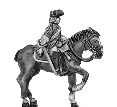 Dragoon officer in tricorn