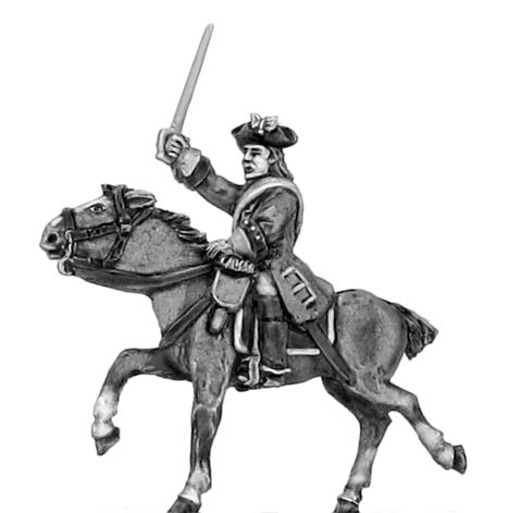 Regiment of horse officer in tricorn