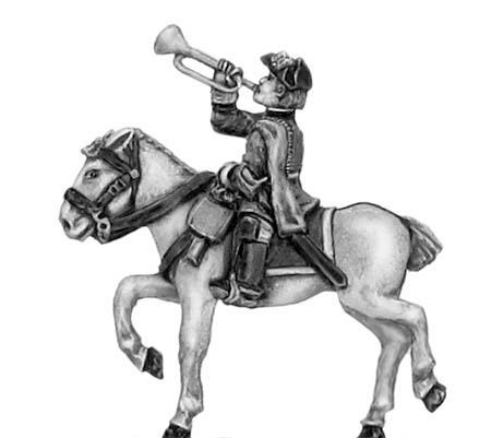 Regiment of horse trumpeter in tricorn