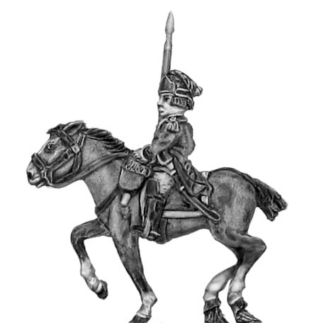 Light Dragoon in helmet standard bearer